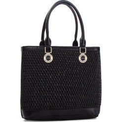 Torebka MONNARI - BAG9060-020 Black. Szare torebki klasyczne damskie marki Monnari, w paski, z materiału, duże. W wyprzedaży za 199,00 zł.