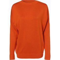 Swetry damskie: BOSS – Sweter damski z dodatkiem jedwabiu – Fandria, pomarańczowy