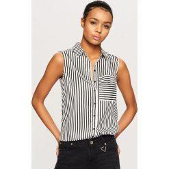 Odzież damska: Koszula bez rękawów – Czarny