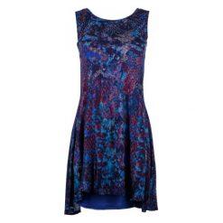 Desigual Sukienka Damska Eric S Niebieski. Niebieskie sukienki asymetryczne Desigual, na co dzień, na lato, s, w kolorowe wzory, z materiału, z asymetrycznym kołnierzem. W wyprzedaży za 259,00 zł.