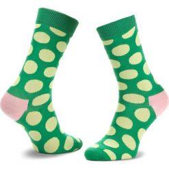 Skarpety Wysokie Unisex HAPPY SOCKS - BDO01-7001 Zielony. Zielone skarpetki męskie marki Happy Socks, z bawełny. Za 34,90 zł.