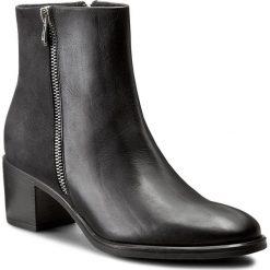 Botki GINO ROSSI - Tesa DBH021-G50-KBRK-9999-F 99/99. Czarne buty zimowe damskie marki Gino Rossi, z nubiku, na obcasie. W wyprzedaży za 289,00 zł.