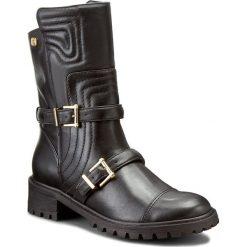Botki KAZAR - Kora 26760-01-00 Czarny. Czarne buty zimowe damskie Kazar, ze skóry, militarne, przed kostkę, na niskim obcasie, z paskami. W wyprzedaży za 499,00 zł.