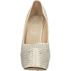 CZÓŁENKA CASU 3311A-4. Szare buty ślubne damskie Casu, na koturnie. Za 69,99 zł.