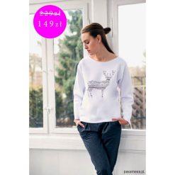 Bluzy damskie: PROMOCJA DEER PATTERN Bluza Oversize