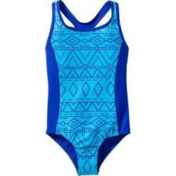 Stroje jednoczęściowe dziewczęce: Kostium kąpielowy dziewczęcy bonprix turkusowo-niebieski