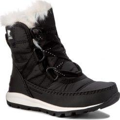 Buty: Śniegowce SOREL – Childrens Whitney Short Lace NC1897 Black/Sea Salt 010