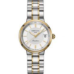 PROMOCJA ZEGAREK CERTINA DS Stella C031.210.22.031.00. Białe zegarki damskie CERTINA, ze stali. W wyprzedaży za 1883,20 zł.