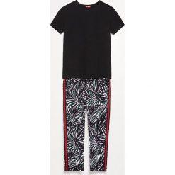 Piżama ze spodniami - Czarny. Czarne piżamy damskie marki Reserved, l. Za 99,99 zł.