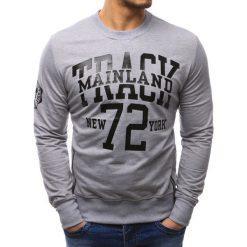 Bluzy męskie: Bluza męska z nadrukiem szara (bx1871)