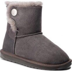 Buty EMU AUSTRALIA - Ore W11788 Charcoal. Szare buty zimowe damskie EMU Australia, ze skóry. Za 649,00 zł.