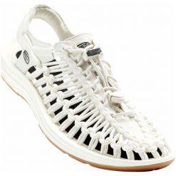 Keen Sandały Uneek W White/Black Us 8,5 (39 Eu). Białe sandały damskie marki Keen, z materiału. W wyprzedaży za 399,00 zł.