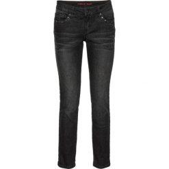 """Dżinsy SKINNY z ćwiekami bonprix czarny """"stone"""". Czarne jeansy damskie bonprix, z jeansu. Za 59,99 zł."""