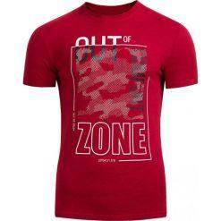 T-shirt męski TSM617 - czerwony melanż - Outhorn. Czerwone t-shirty męskie Outhorn, na lato, m, melanż, z bawełny. Za 39,99 zł.