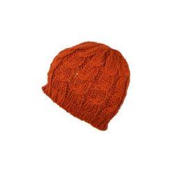 Czapka damska Klasyczny warkocz pomarańczowa. Czarne czapki zimowe damskie marki BIG STAR, z gumy. Za 20,43 zł.