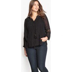 Bluzki asymetryczne: Bluzka z haftem atłaskowym