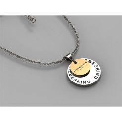 Naszyjniki damskie: Srebrny naszyjnik z zawieszką - dł. 45 cm