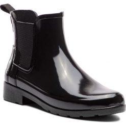 Kalosze HUNTER - Org Refined Chelsea Gloss WFS1017RGL Black. Czarne buty zimowe damskie Hunter, z kauczuku. Za 549,00 zł.