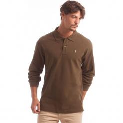 Koszulka polo w kolorze khaki. Brązowe koszulki polo marki Polo Club Men, m, z haftami, z bawełny. W wyprzedaży za 130,95 zł.