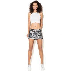 Spodnie damskie: Colour Pleasure Spodnie damskie CP-020 227 czarno-białe r. XL/XXL