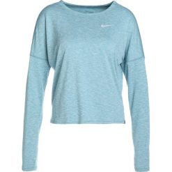 Nike Performance DRY MEDALIST LONGSLEEVE Koszulka sportowa noise aqua / ocean bliss reflective silver. Niebieskie topy sportowe damskie Nike Performance, l, z materiału. W wyprzedaży za 209,30 zł.