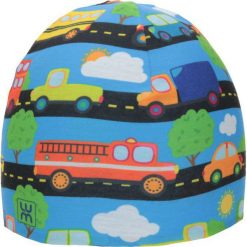 Dwuwarstwowa czapka Micro Double kid brum. Niebieskie czapeczki niemowlęce marki LUM. Za 53,54 zł.