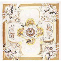 Holzweiler CHRISTIANIA BIG FRINGED SQUARE Chusta cream. Brązowe chusty damskie Holzweiler, z jedwabiu. W wyprzedaży za 510,95 zł.