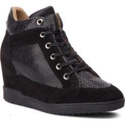 Sneakersy GEOX - D Carum C D84ASC 02241 C9999 Black. Czarne sneakersy damskie Geox, z materiału. Za 599,00 zł.