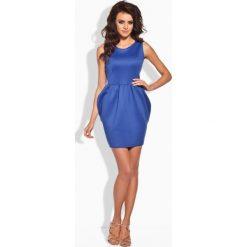 Sukienki: Klasyczna sukienka w formie bombki chabrowa
