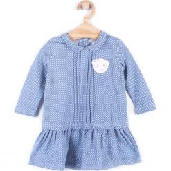 Sukienka. Niebieskie sukienki dziewczęce marki bonprix, z wełny, z długim rękawem, długie. Za 49,90 zł.