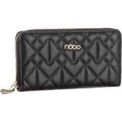 Duży Portfel Damski NOBO - NPUR-D1060-C020 Czarny. Czarne portfele damskie Nobo, ze skóry ekologicznej. W wyprzedaży za 89,00 zł.