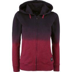 Bluzy rozpinane damskie: Black Premium by EMP Dip Dye Hoodie Jacket Bluza z kapturem rozpinana damska czarny/bordowy