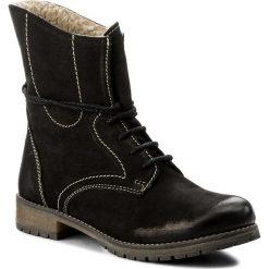 Botki LASOCKI - WI05-FIGURA-01 Czarny. Czarne buty zimowe damskie Lasocki, z nubiku. Za 199,99 zł.
