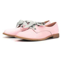 Buty wizytowe męskie: Skórzane półbuty w kolorze różowym
