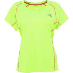 The North Face AMBITION DAYGLO YELLOW Tshirt basic dayglow yellow. Różowe topy sportowe damskie marki The North Face, m, z nadrukiem, z bawełny. Za 169,00 zł.