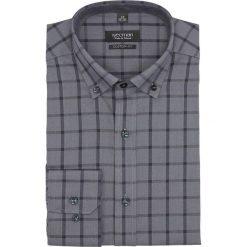 Koszula bexley f2647 długi rękaw custom fit szary. Szare koszule męskie marki Recman, na lato, l, w kratkę, button down, z krótkim rękawem. Za 149,00 zł.