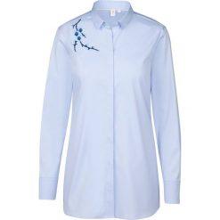 Topy sportowe damskie: Bluzka – Slim fit – w kolorze błękitnym