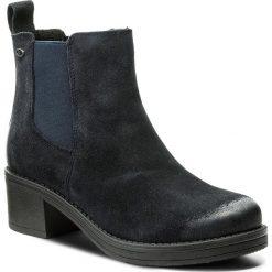 Botki LASOCKI - EGIA-03W Granatowy. Niebieskie buty zimowe damskie Lasocki, z materiału, na obcasie. W wyprzedaży za 100,00 zł.
