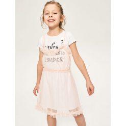 Sukienki dziewczęce: Dwuwarstwowa sukienka – Biały