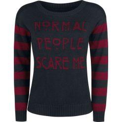 Bluzy rozpinane damskie: American Horror Story Normal People Scare Me Bluza czarny/bordowy