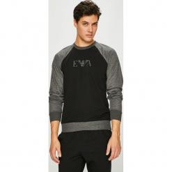 Emporio Armani - Bluza. Czarne bluzy męskie rozpinane Emporio Armani, l, z nadrukiem, z bawełny, bez kaptura. Za 389,90 zł.
