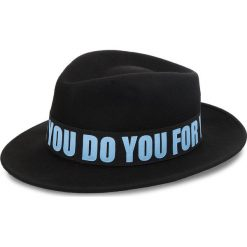 Kapelusz TRUSSARDI JEANS - Fedora Felt 59Z00107 K303. Czarne kapelusze damskie Trussardi Jeans, z jeansu. W wyprzedaży za 229,00 zł.