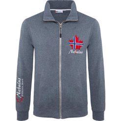 """Sweter rozpinany """"Visby"""" w kolorze niebieskim. Niebieskie golfy męskie Nebulus, m, z nadrukiem. W wyprzedaży za 125,95 zł."""