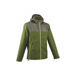 Kurtka turystyczna NH100 męska. Zielone kurtki męskie marki QUECHUA, m, z elastanu. Za 99,99 zł.