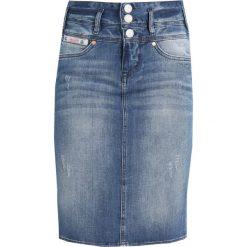 Herrlicher RAYA SKIRT Spódnica jeansowa bloom. Niebieskie spódniczki jeansowe Herrlicher. Za 379,00 zł.