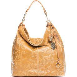 Torebki klasyczne damskie: Skórzana torebka w kolorze jasnobrązowym – 35 x 37 x 15 cm