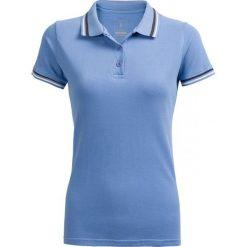 Koszulka polo damska TSD614 - niebieski - Outhorn. Niebieskie bluzki z odkrytymi ramionami Outhorn, na lato, z bawełny. W wyprzedaży za 29,99 zł.
