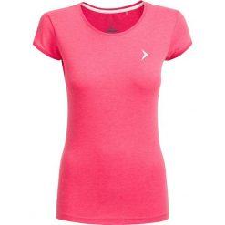 T-shirt damski TSD616 - ciemny róż melanż - Outhorn. Czerwone t-shirty damskie Outhorn, melanż, z bawełny. W wyprzedaży za 24,99 zł.