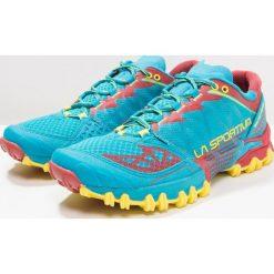 La Sportiva BUSHIDO Obuwie do biegania Szlak tropic blue/cardinal red. Niebieskie buty do biegania męskie La Sportiva, z gumy. Za 639,00 zł.