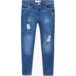 Mango - Jeansy Kate. Niebieskie jeansy damskie Mango, z bawełny. W wyprzedaży za 79,90 zł.